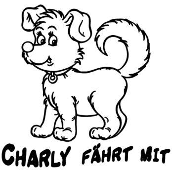 Hundeaufkleber Comic 10